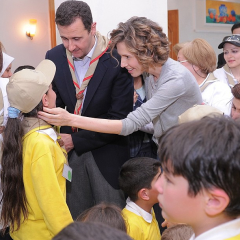 President Assad and his wife Asma with children, May 2012.