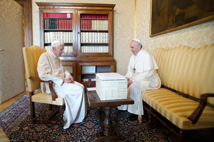 Italy - Religion - Pope Francis meets Pope Emeritus Benedict XVI